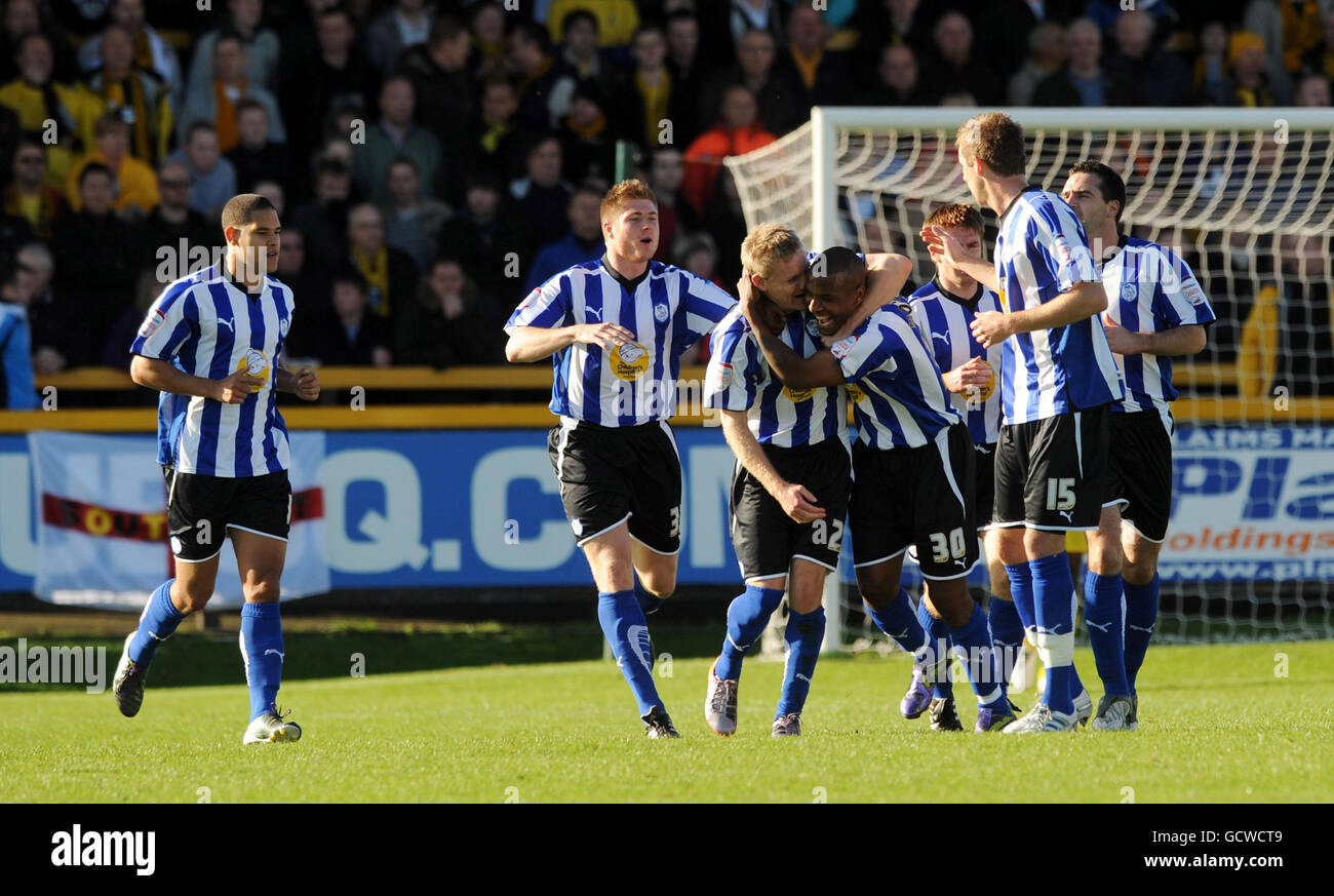 Soccer - FA Cup - First Round - Southport v Sheffield Wednesday - Haig Avenue - Stock Image