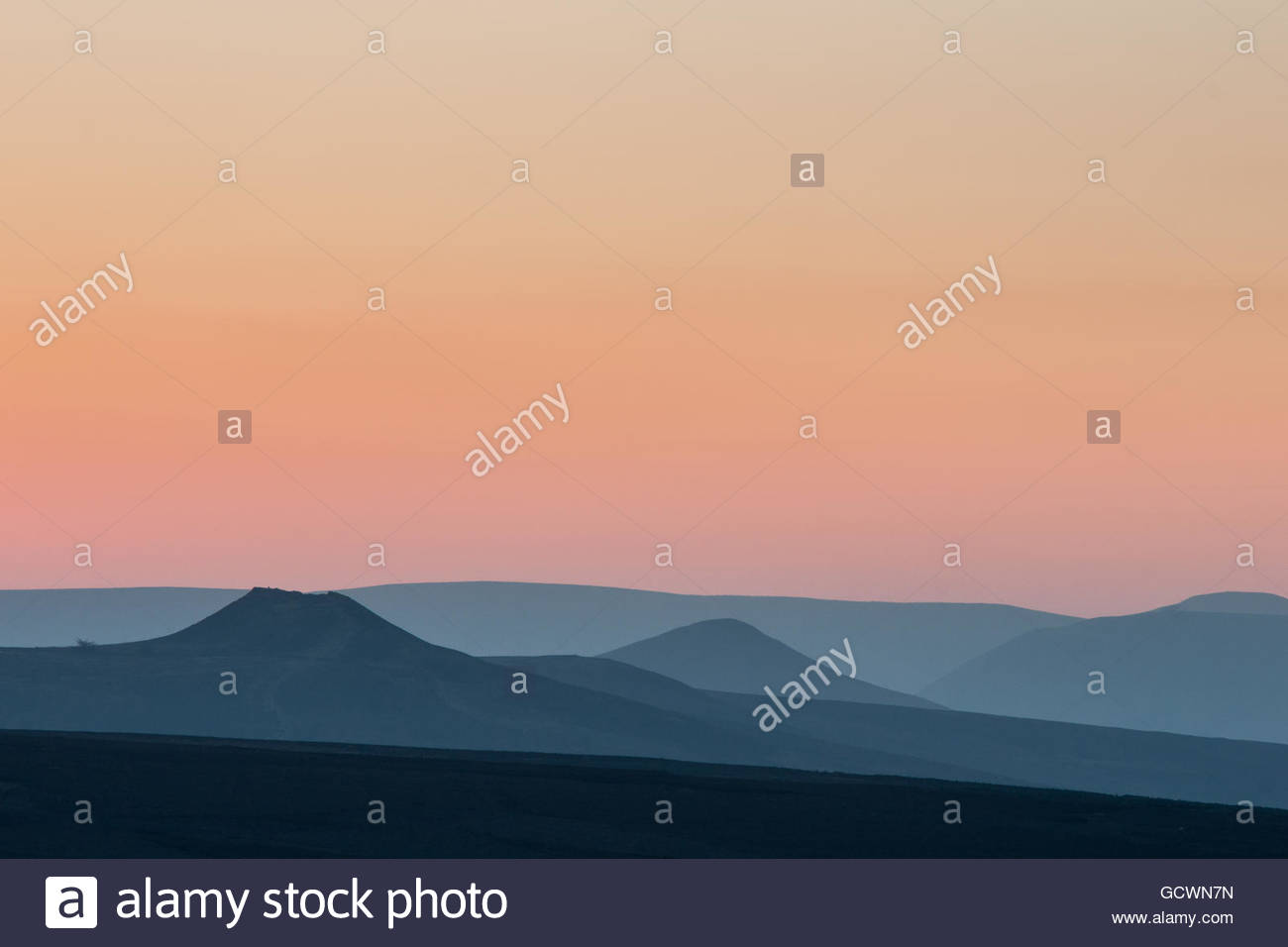 Win Hill and Lose Hill from Stanage Edge - Stock Image