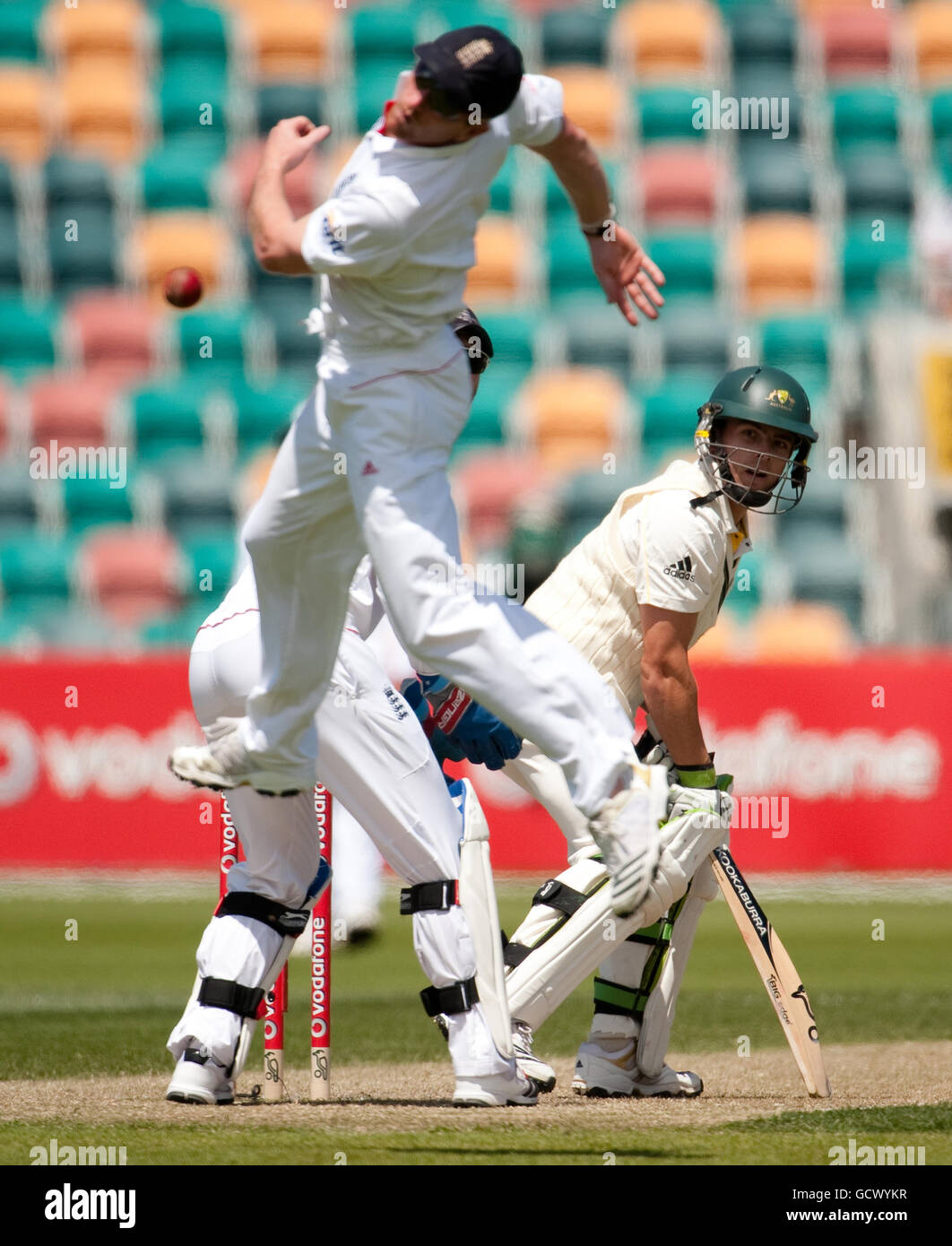 Cricket - Tour Match - Australia A v England XI - Day Four - Bellerive Oval - Stock Image