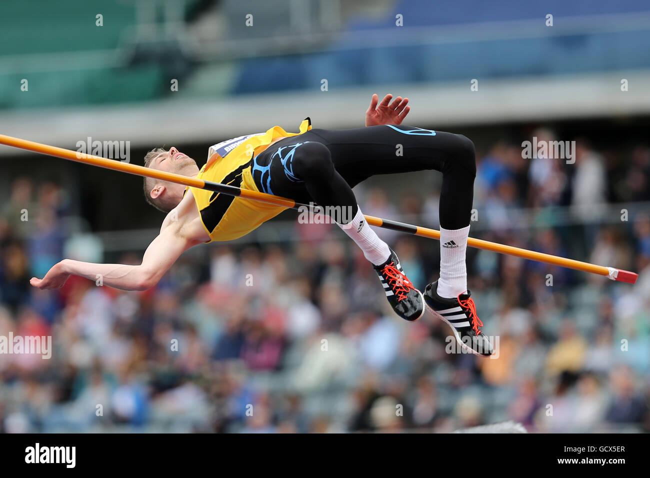 Matthew ROBERTS Men's High Jump Final, 2016 British Championships; Birmingham Alexander Stadium UK. - Stock Image