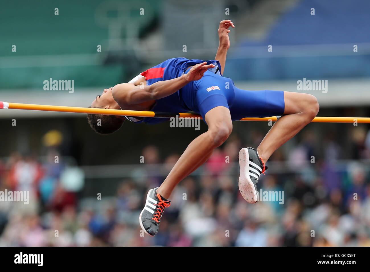Tom GALE Men's High Jump Final, 2016 British Championships; Birmingham Alexander Stadium UK. - Stock Image