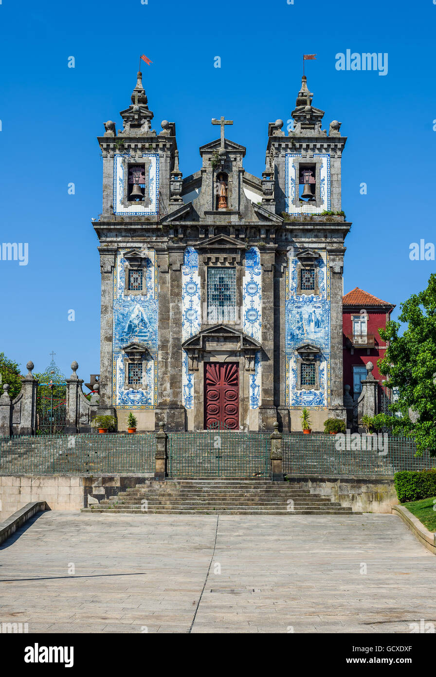 Igreja de Santo Ildefonso church in Porto, Portugal - Stock Image