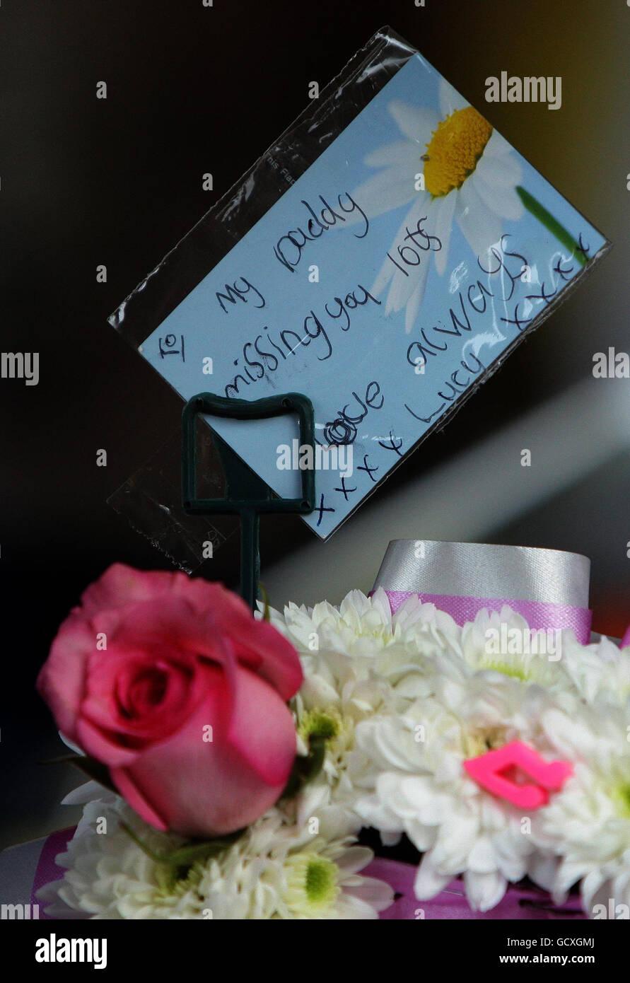 Guardsman Christopher Davies funeral - Stock Image