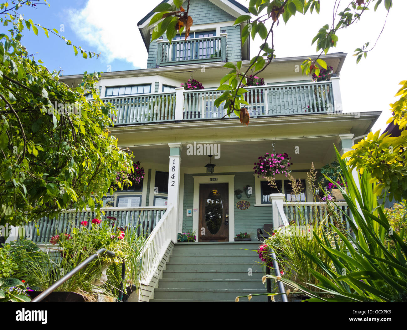 Bee and Thistle guest house bed & breakfast in east Vancouver. - Stock Image
