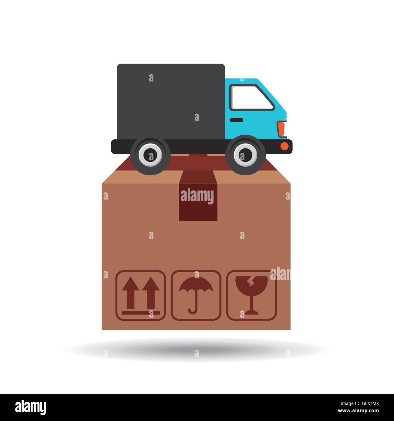 transportation delivery service box warehouse - Stock Image
