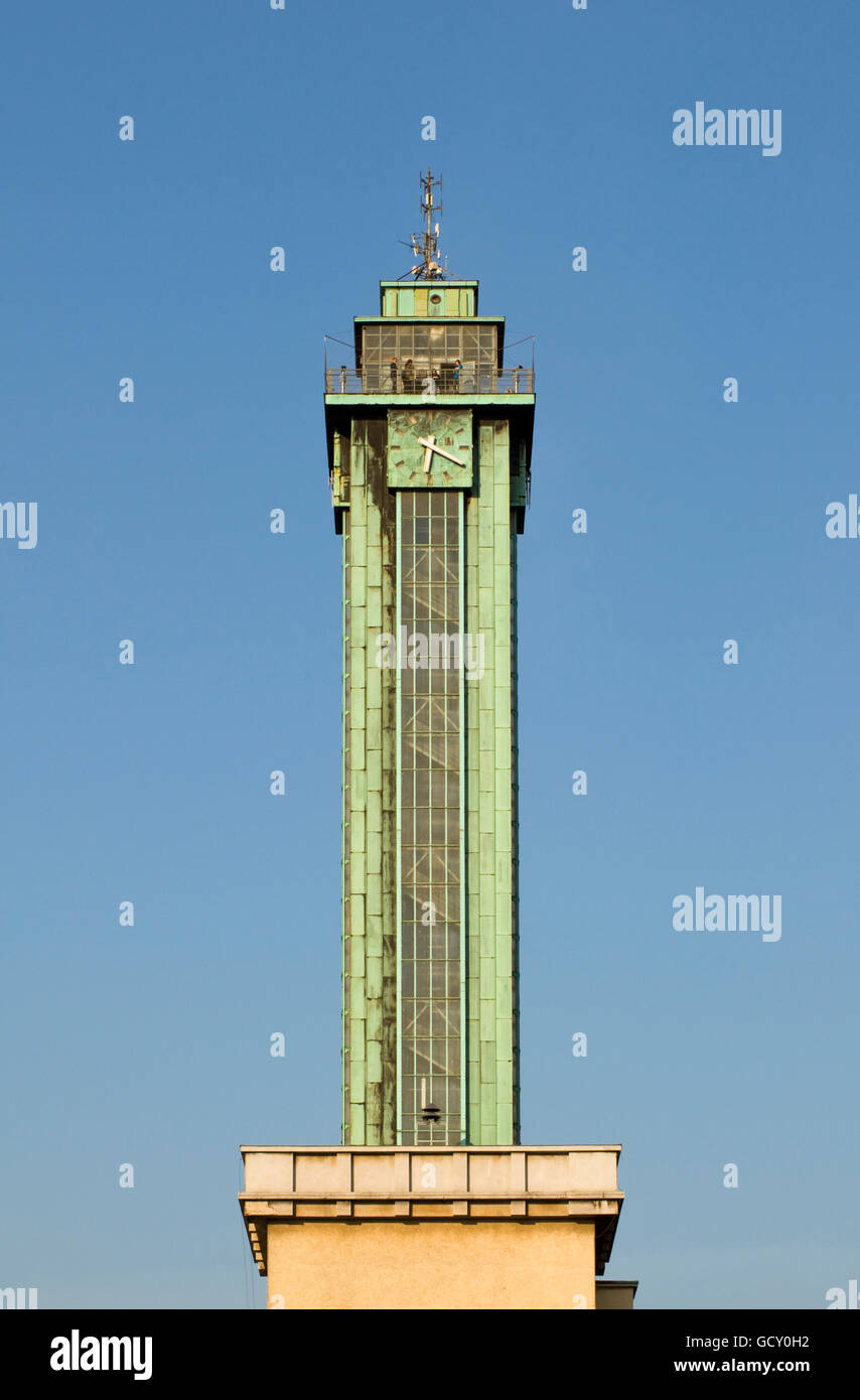 Observation tower of New City Hall of Ostrava, Czech Republic, Europe - Stock Image