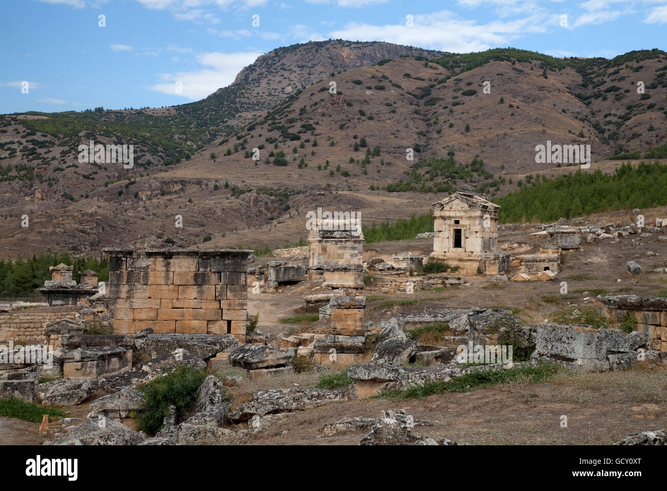 Burying place, Hierapolis, Pamukkale, Denizli, Turkey, Asia - Stock Image
