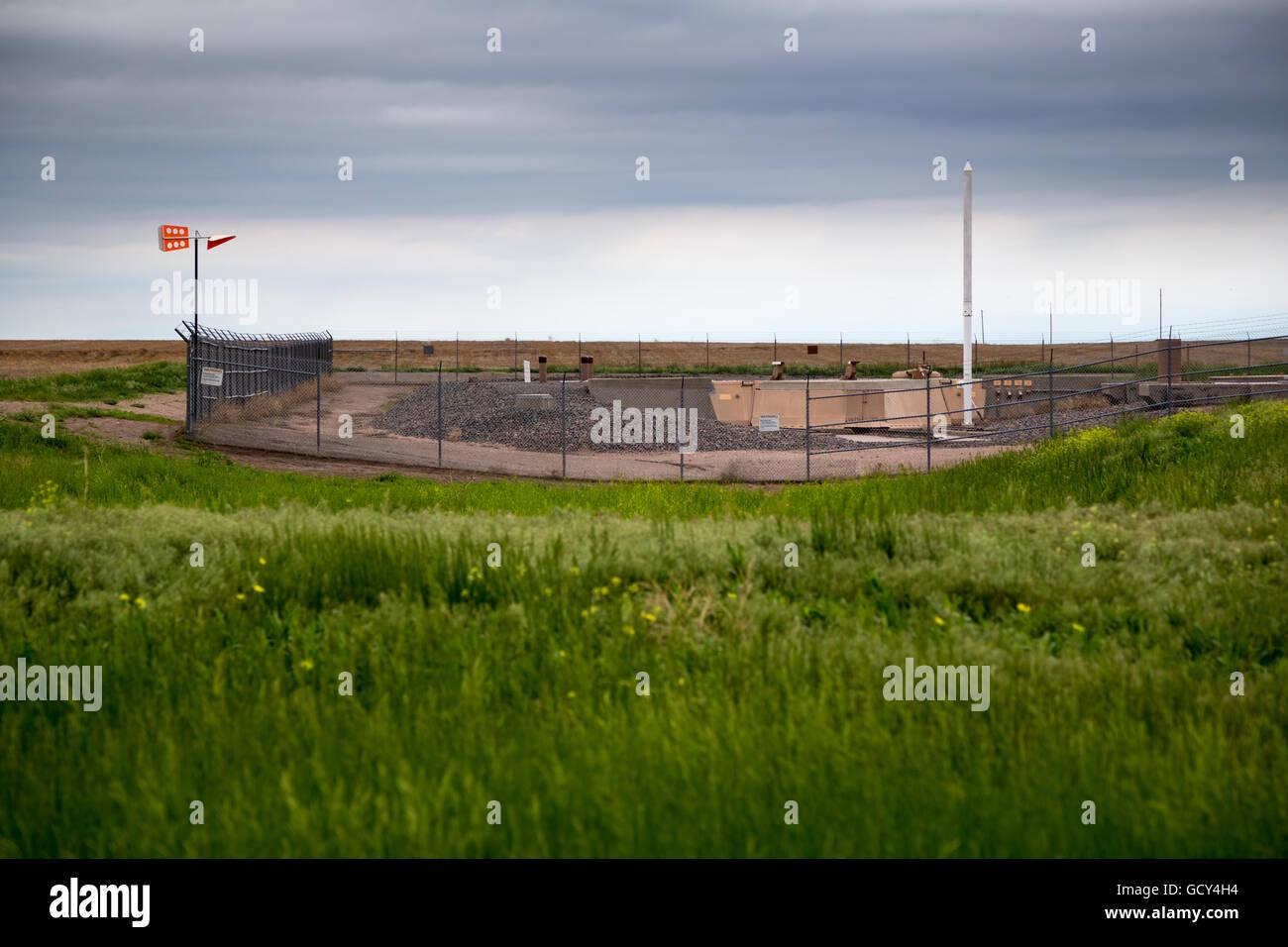 A Minuteman Nuclear Missile Silo near Gurley, Nebraska, June 1, 2014. - Stock Image
