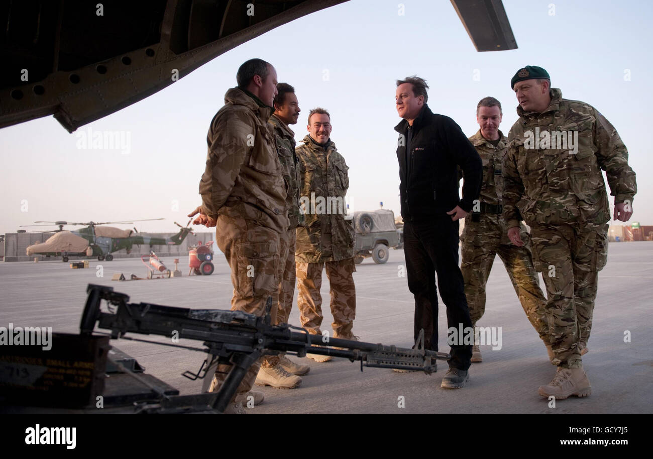 Cameron in Afghanistan - Stock Image
