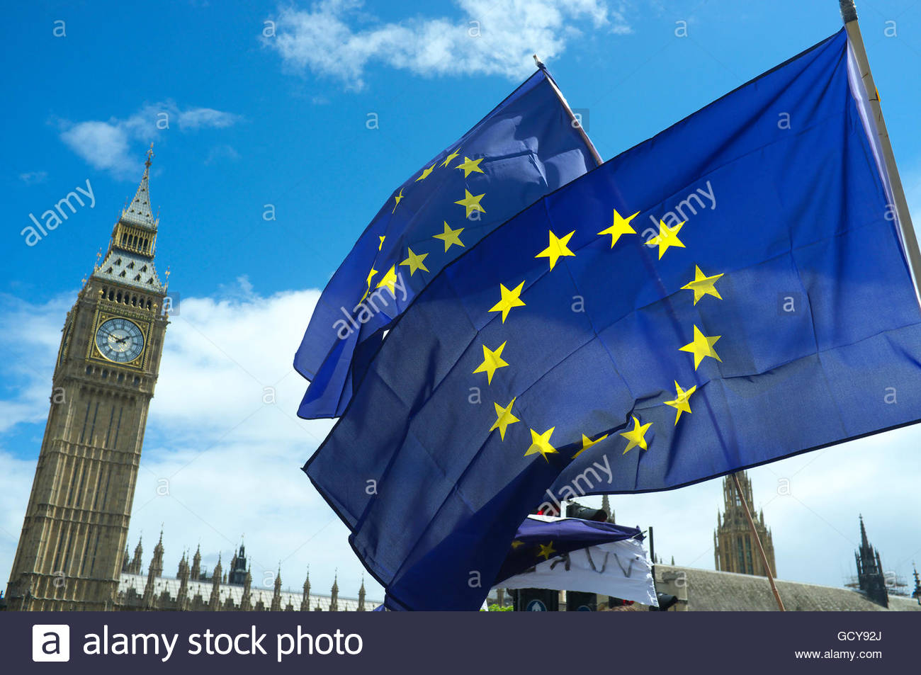 Pro EU demonstation (March for Europe), after the UK voted against membership of the EU (Brexit). 2nd July 2016, - Stock Image