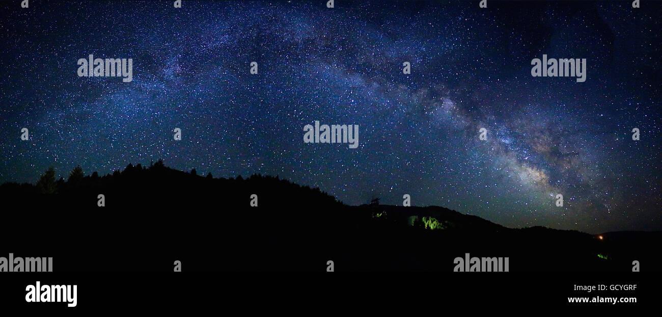 Milky Way over Highway 299 - Stock Image