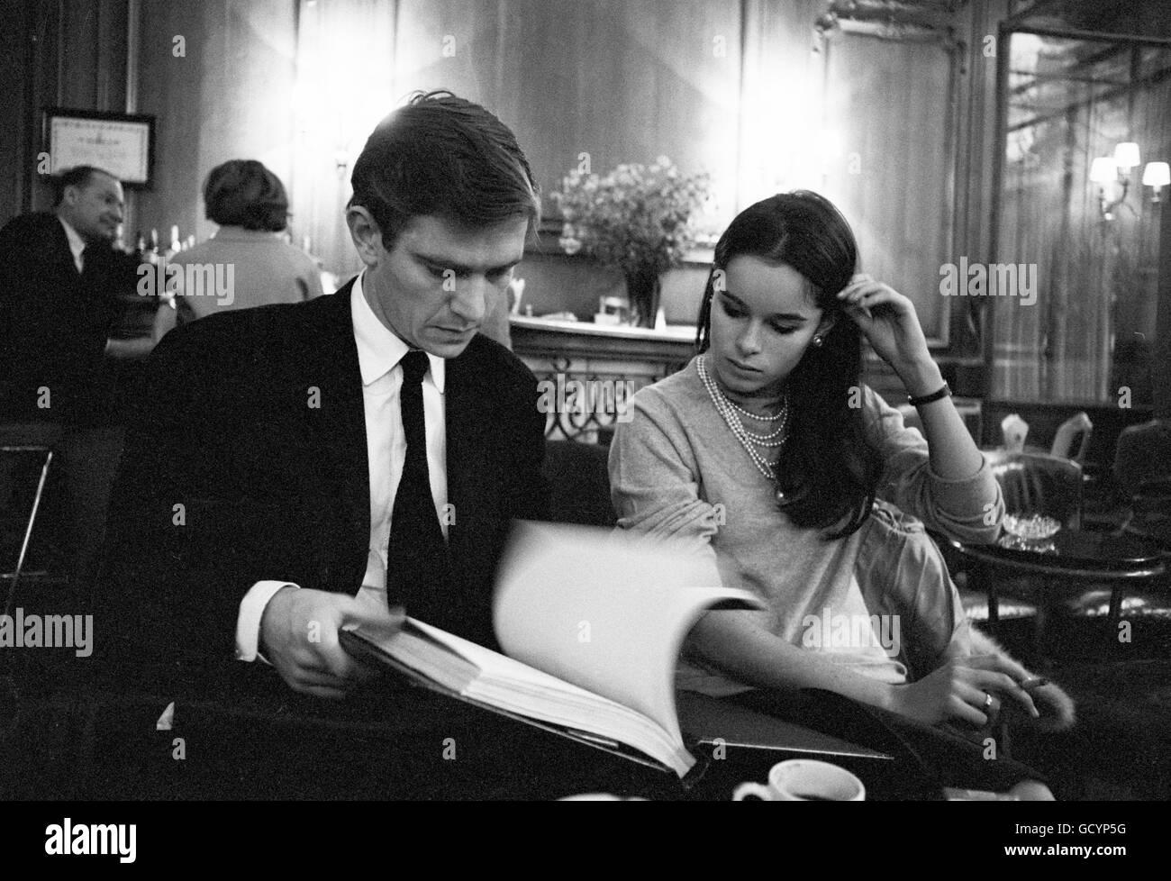 Geraldine Chaplin and Tom Courtenay - Stock Image