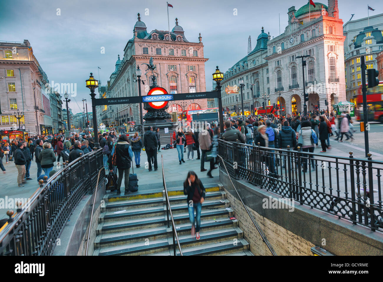 Picadilly Circus. London, England, United kingdom, Europe. - Stock Image