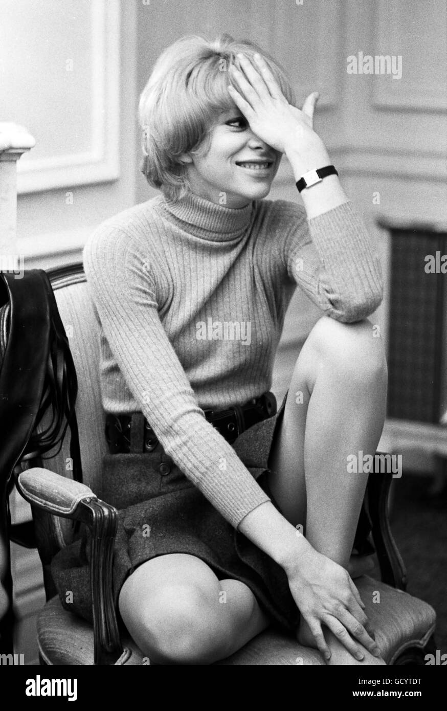Mireille Darc, photographed in 1969. - Stock Image