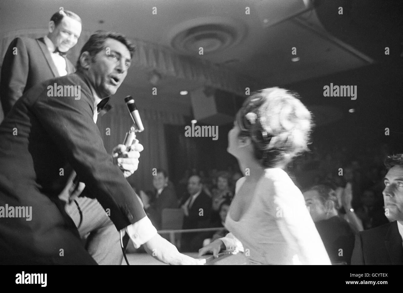 Nancy Sinatra, Dean Martin, and Frank Sinatra - Stock Image