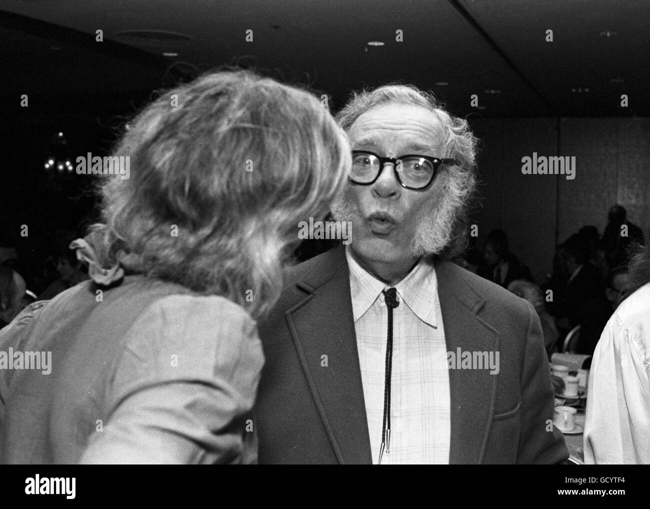 Isaac Asimov, at an event hosted by the Mystery Writers of America - Stock Image