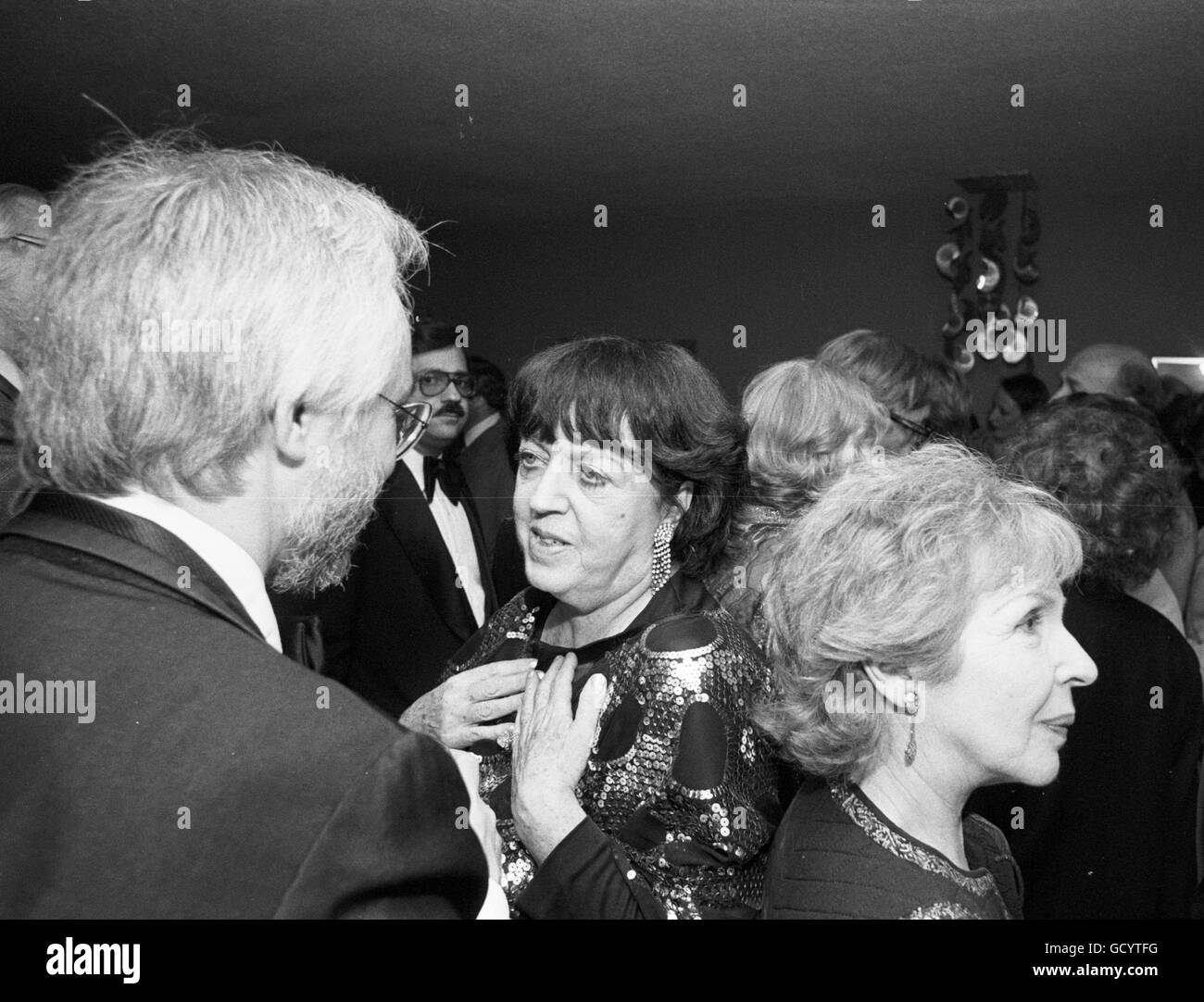 Lucy Freeman, author, at a party hosted by the Mystery Writers of America - Stock Image