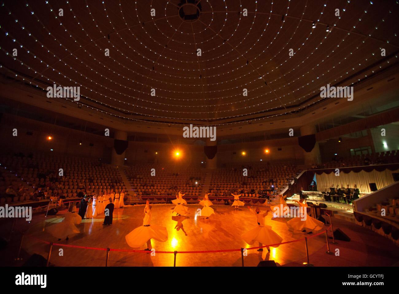 August 18, 2013, Konya,Turkye. Dancing dervishes - Stock Image