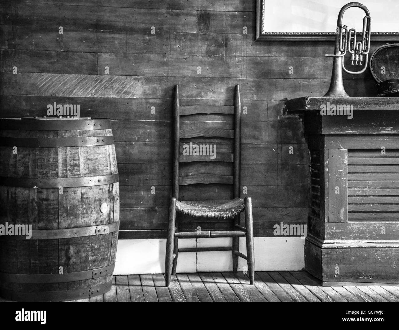 2c084c4b8fd Interior still life of oak barrel