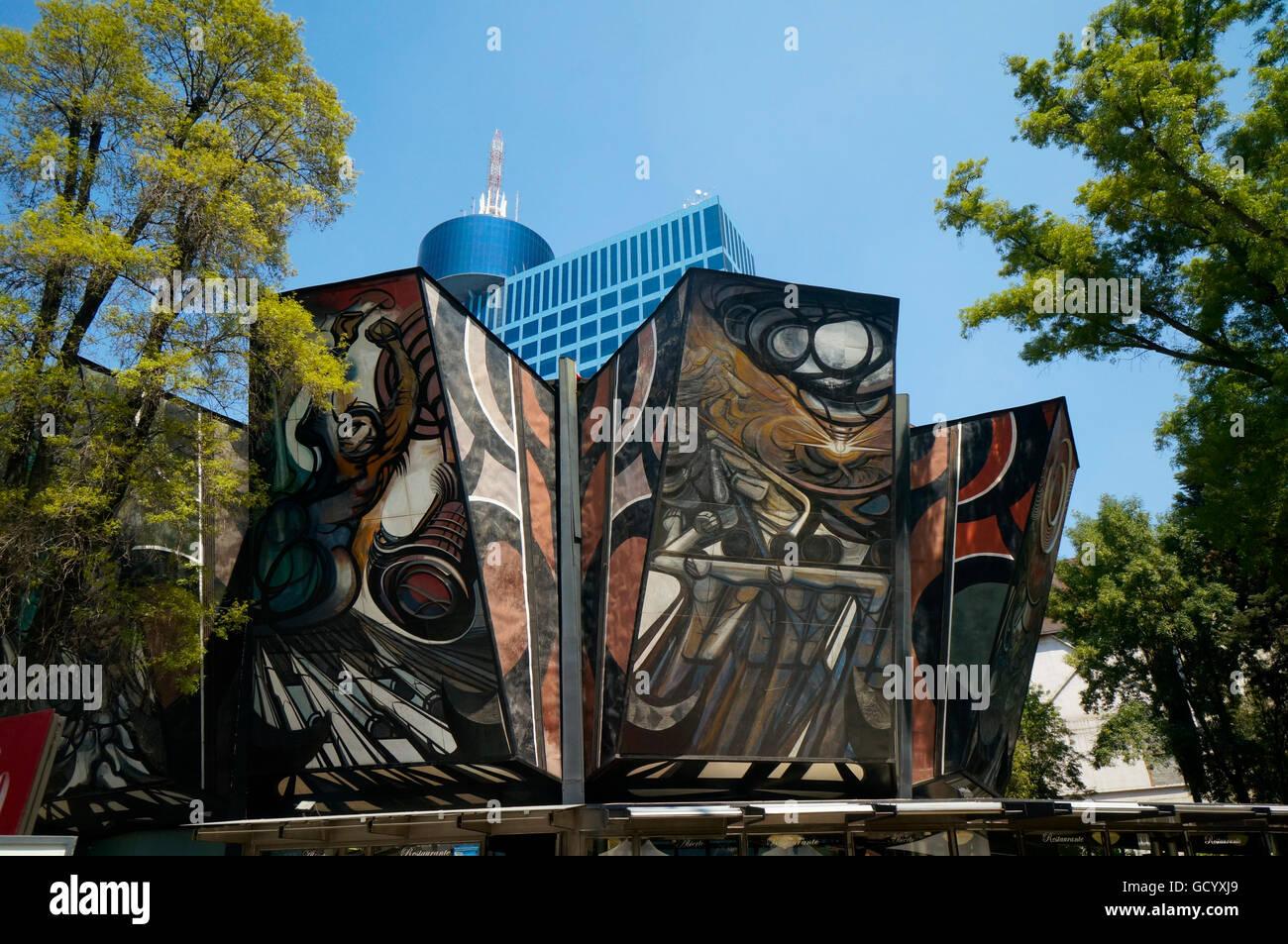 Polyforum Siqueiros Building Murals In Mexico City Mexico Giant