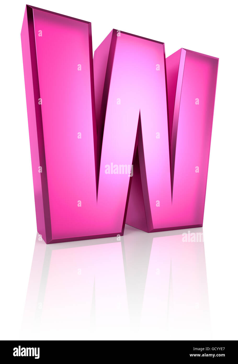 Letter W Cut Out Stock Images & Pictures - Alamy