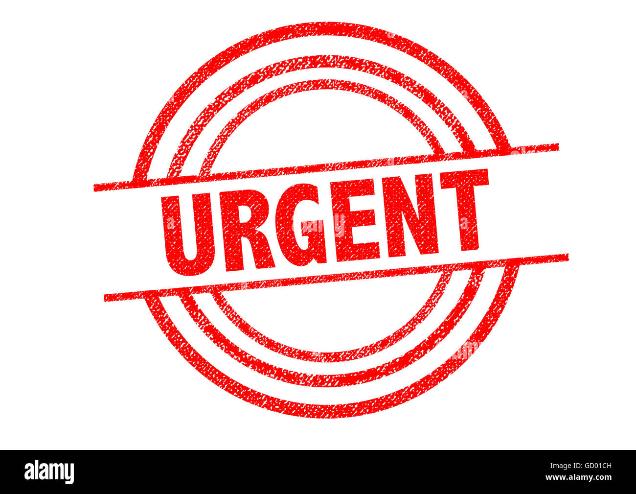 URGENT Rubber Stamp over a white background. - Stock Image
