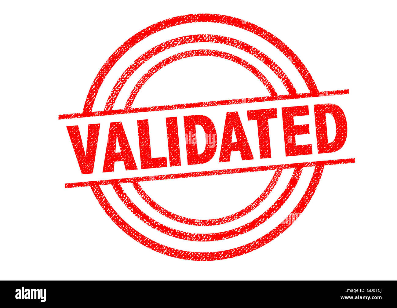 VALIDATED Rubber Stamp over a white background. Stock Photo