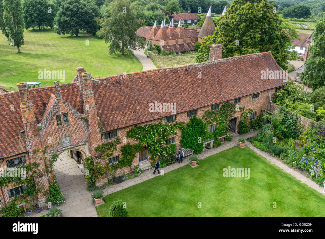 Sissinghurst house gardens and nursery - Stock Image