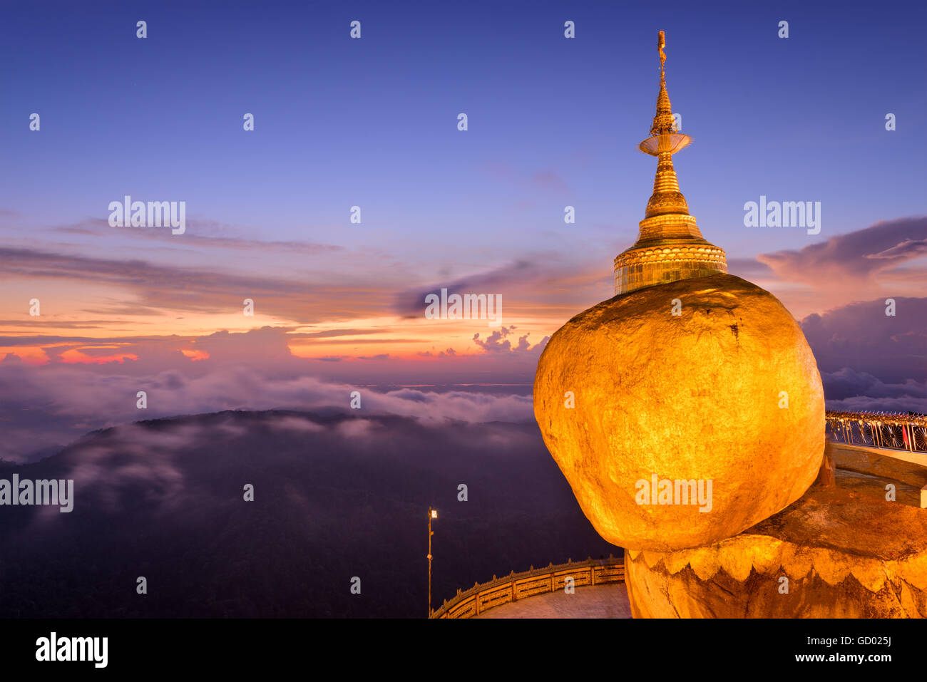 Kyaiktiyo, Myanmar at Golden Rock. - Stock Image