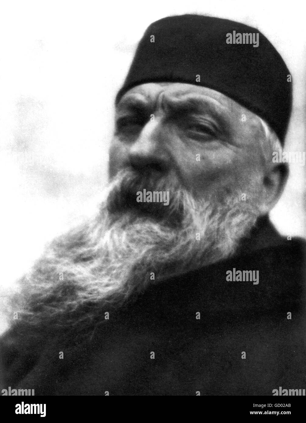 Auguste Rodin. Portrait of the French sculptor Auguste Rodin (François Auguste René Rodin: 1840-1917) - Stock Image