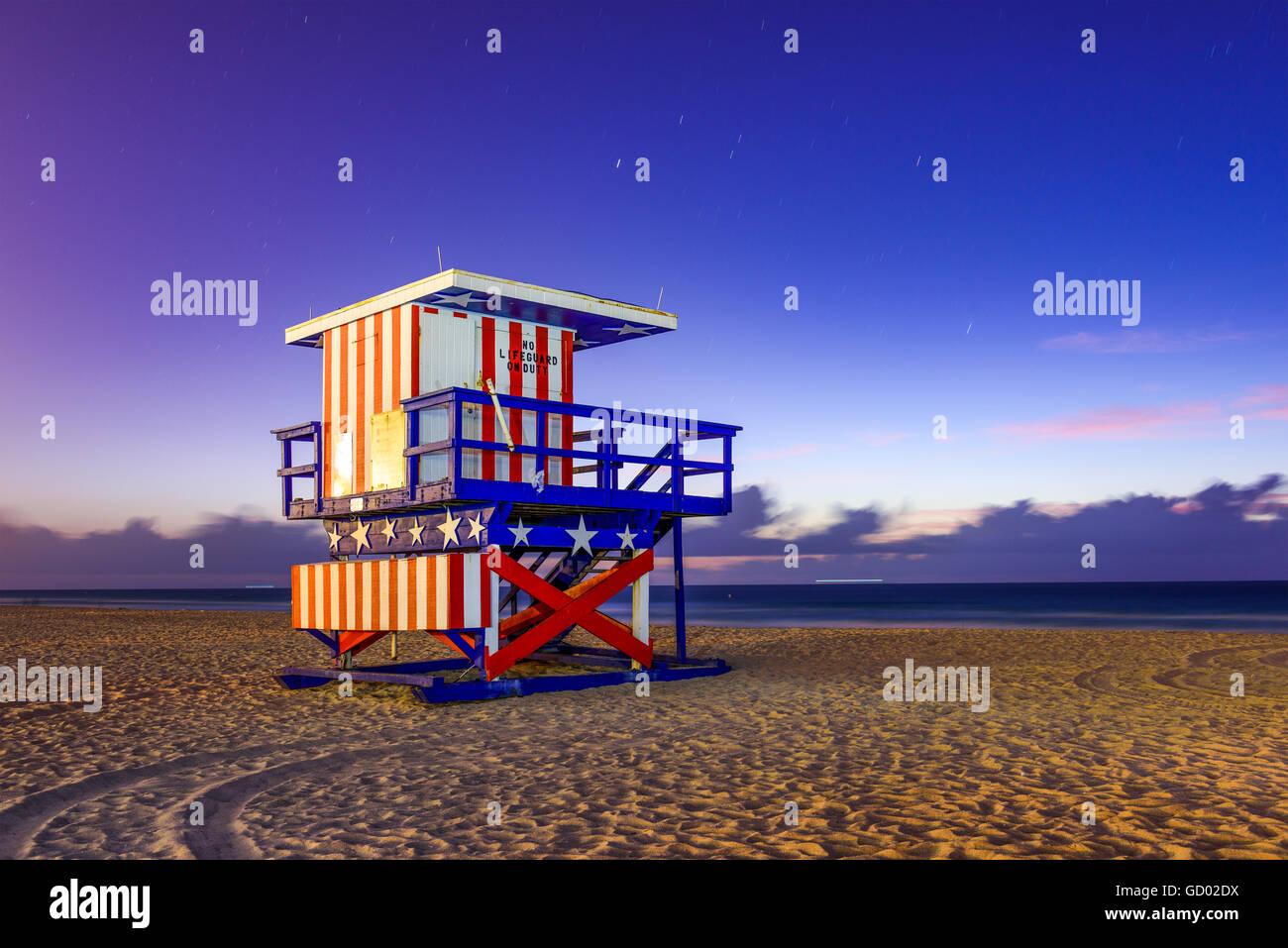 Miami Beach, Florida, USA at the break of dawn. - Stock Image
