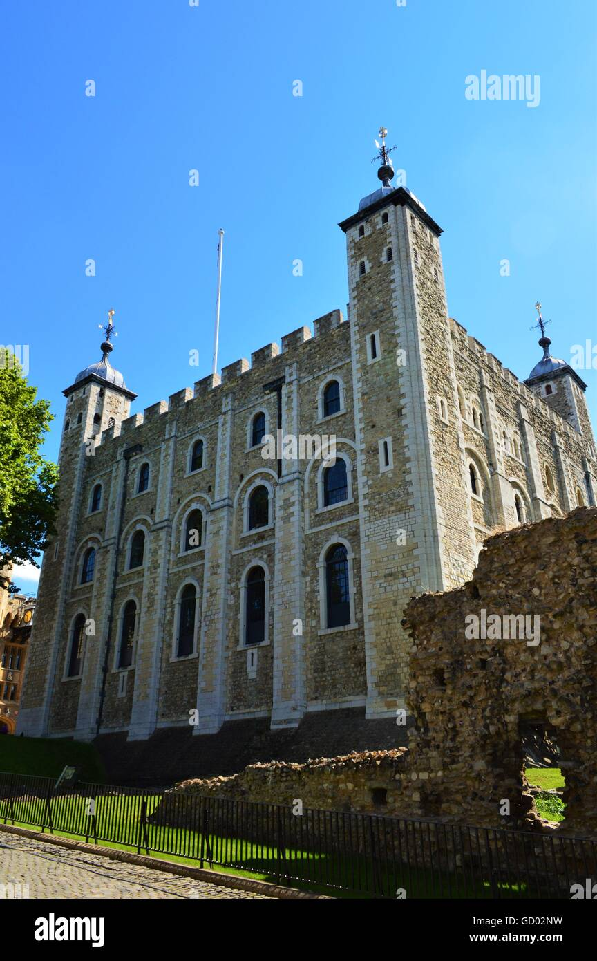 Armory at the Tower of London - Stock Image