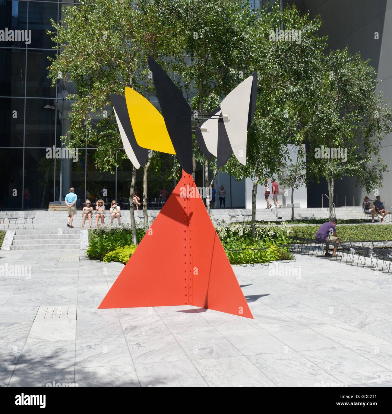 Sandy's Butterfly, 1964, by Alexander Calder, sculpture garden at MOMA, NYC - Stock Image