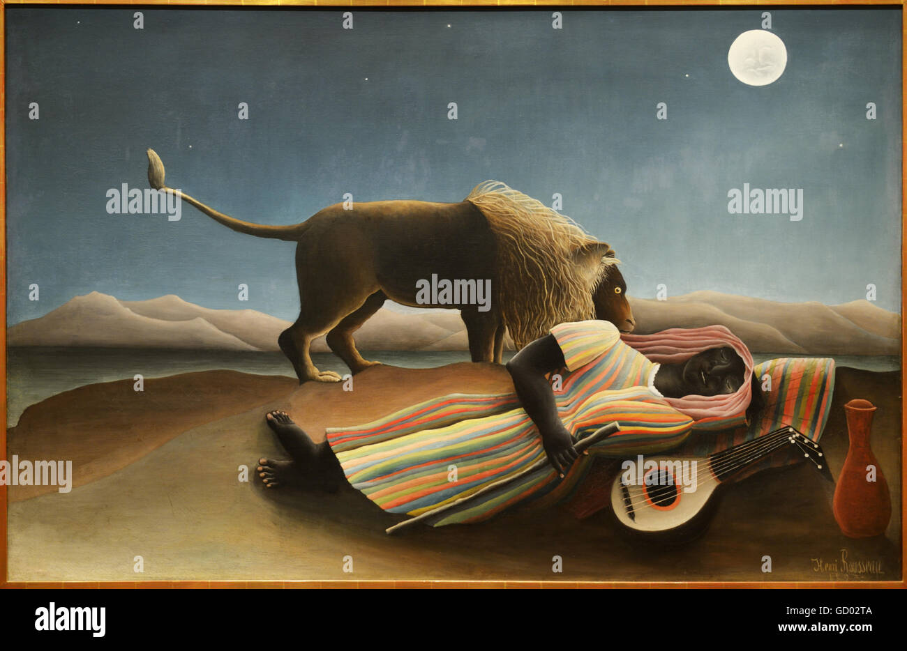 The Sleeping Gypsy, 1897, Henri Rousseau, MOMA - Stock Image