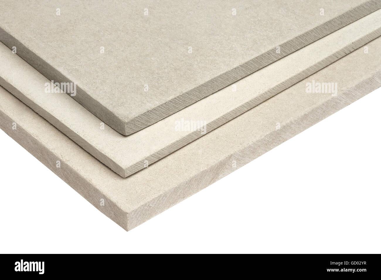 Gypsum Board Stack Corner Isolated On White Background