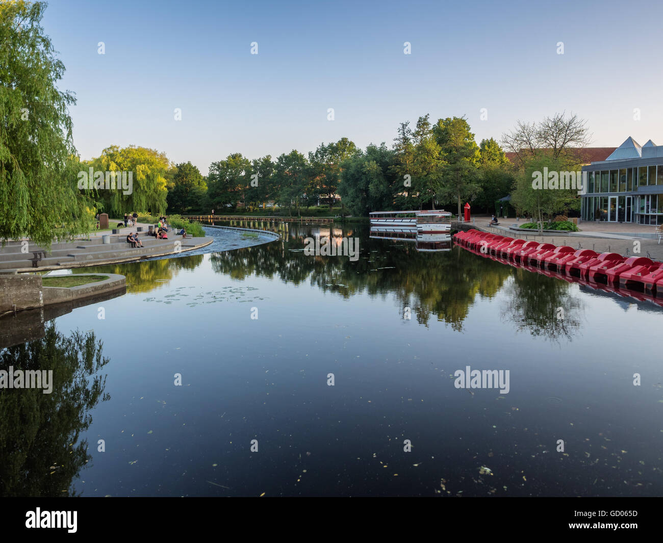 Odense river on a summers day, Denmark Stock Photo