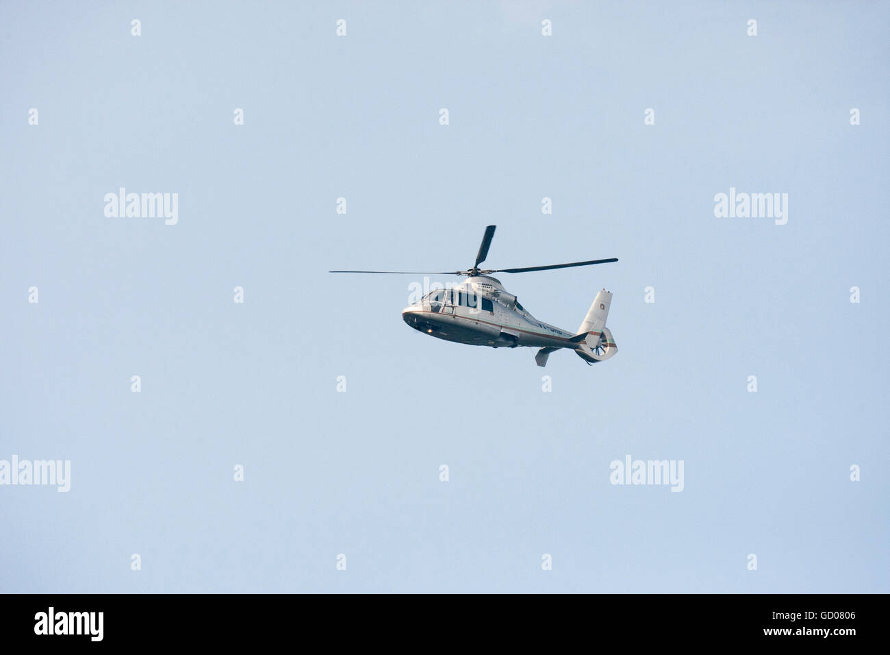 Relaince Petrochemicals helicopter - Stock Image