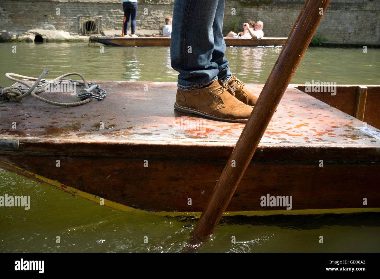 People enjoying punting on the River Cam, Cambridge - Stock Image