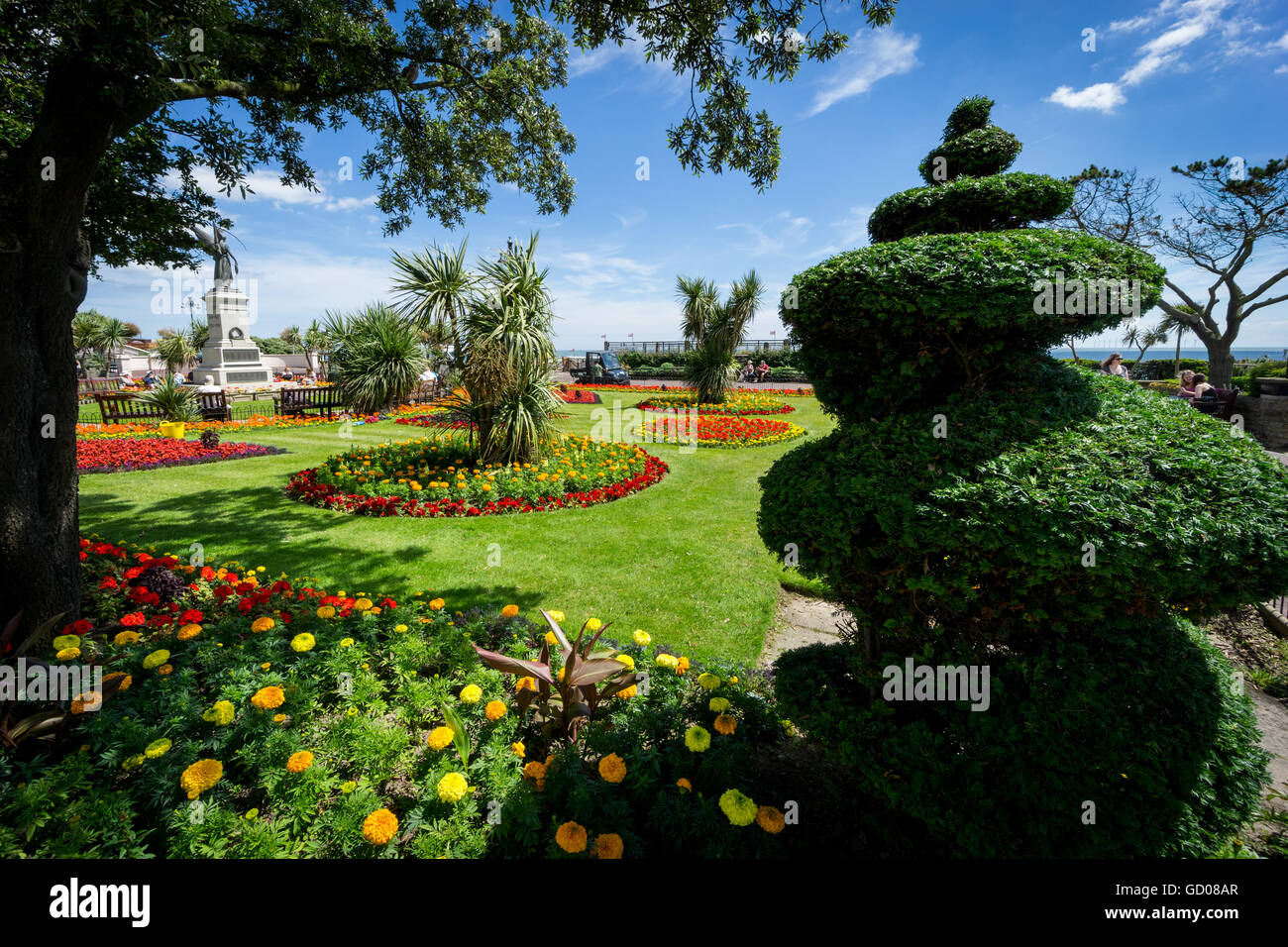 The Remembrance Garden in Clacton-on-Sea, Essex. - Stock Image