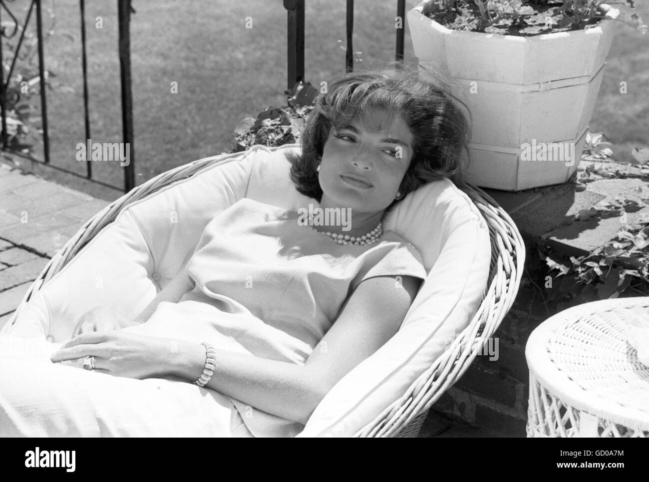 Jackie Kennedy at Hyannis Port - Stock Image
