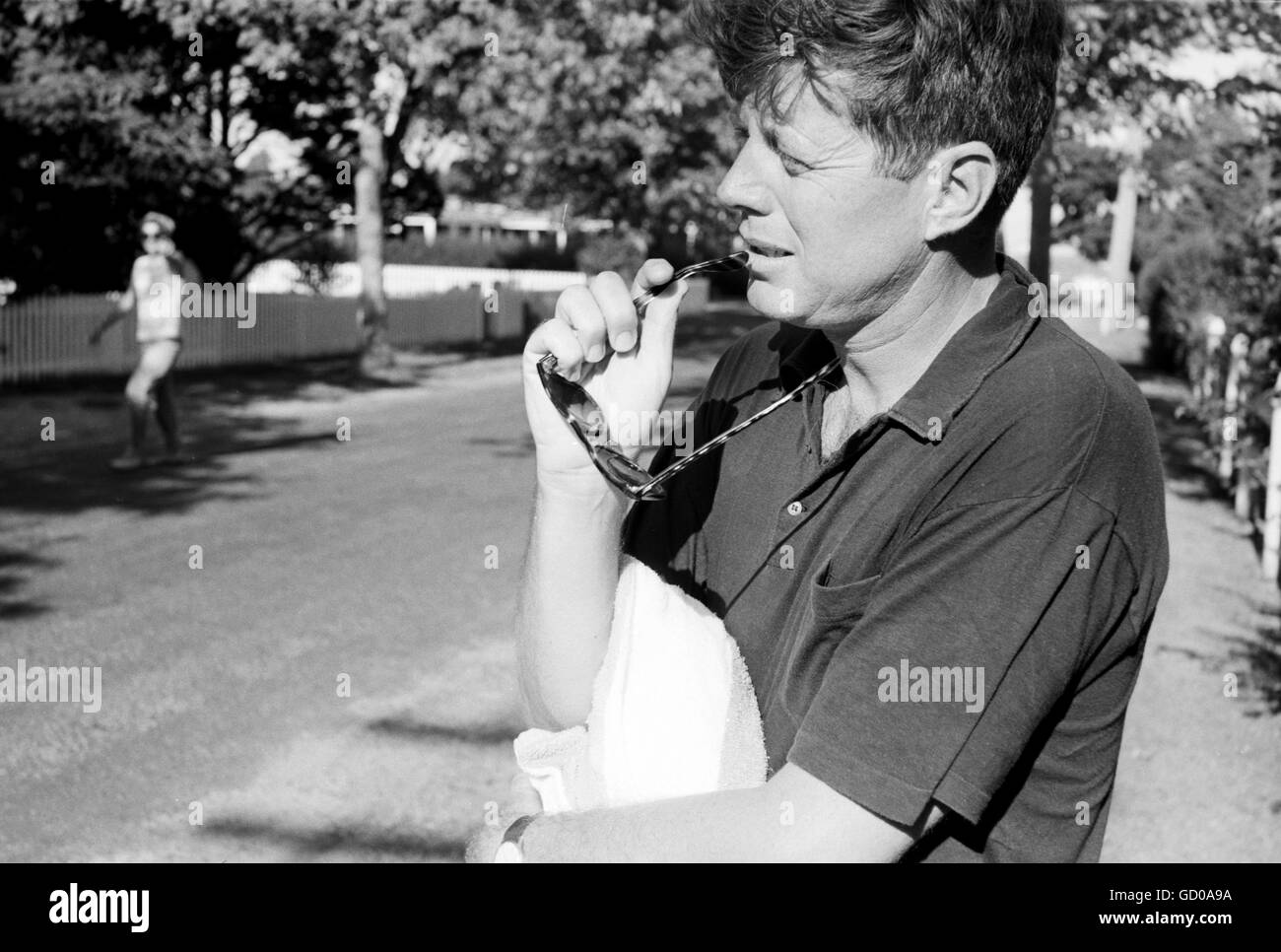 Senator John F. Kennedy at Hyannis Port - Stock Image