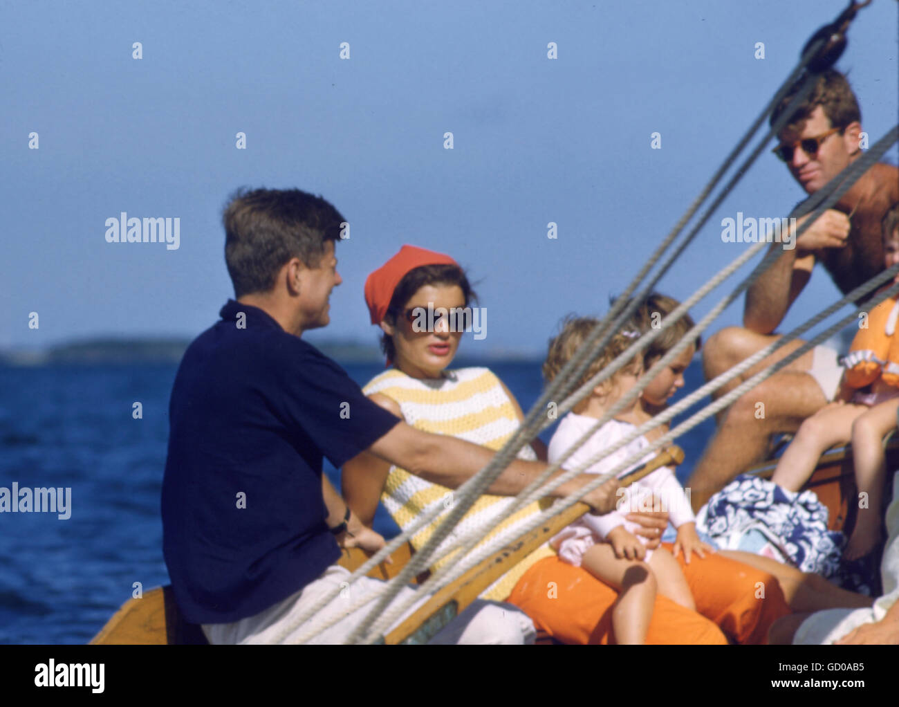 John, Robert, and Jacqueline Kennedy - Stock Image