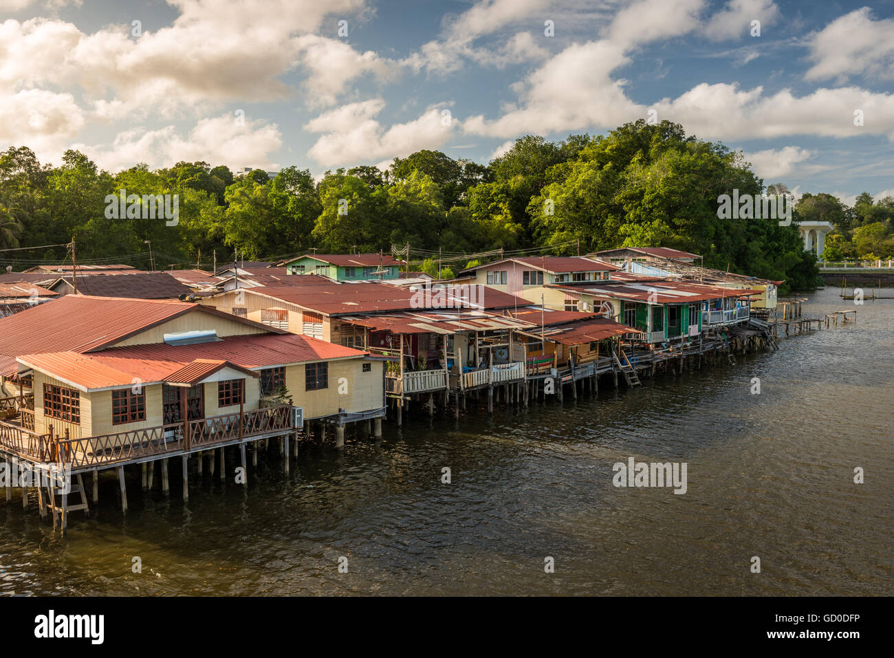 The river village of Kampong Ayer in Bandar Seri Begawan, Brunei. - Stock Image