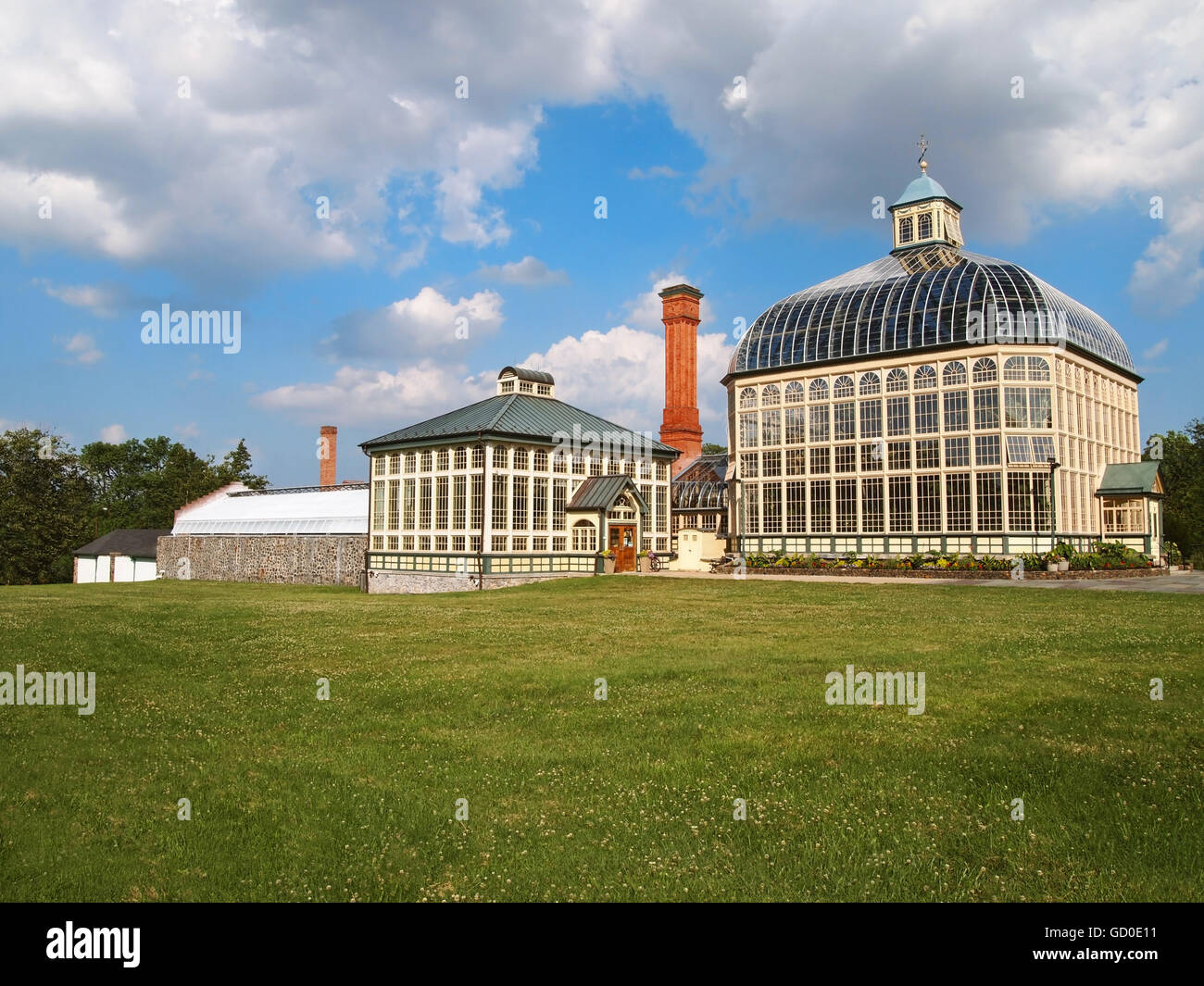 The Howard Peter Rawlings Conservatory and Botanic Gardens of Baltimore, in Druid Hill Park, in Baltimore, Maryland. - Stock Image