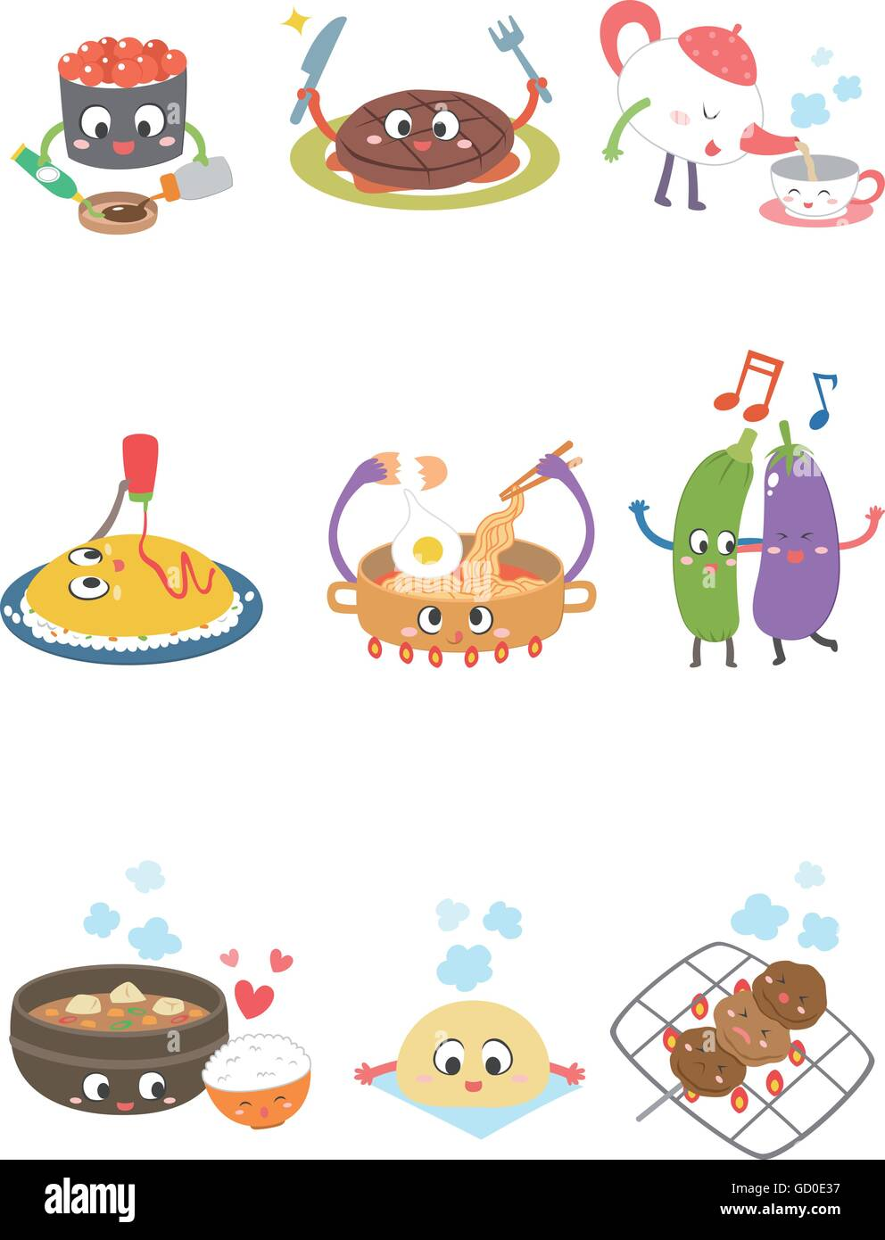 Character food - Stock Vector