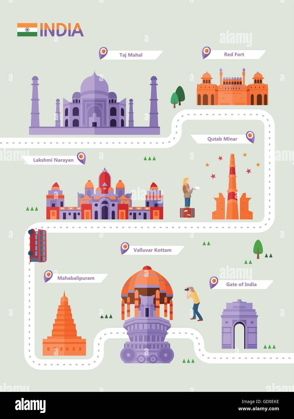 Travel Map - Stock Image