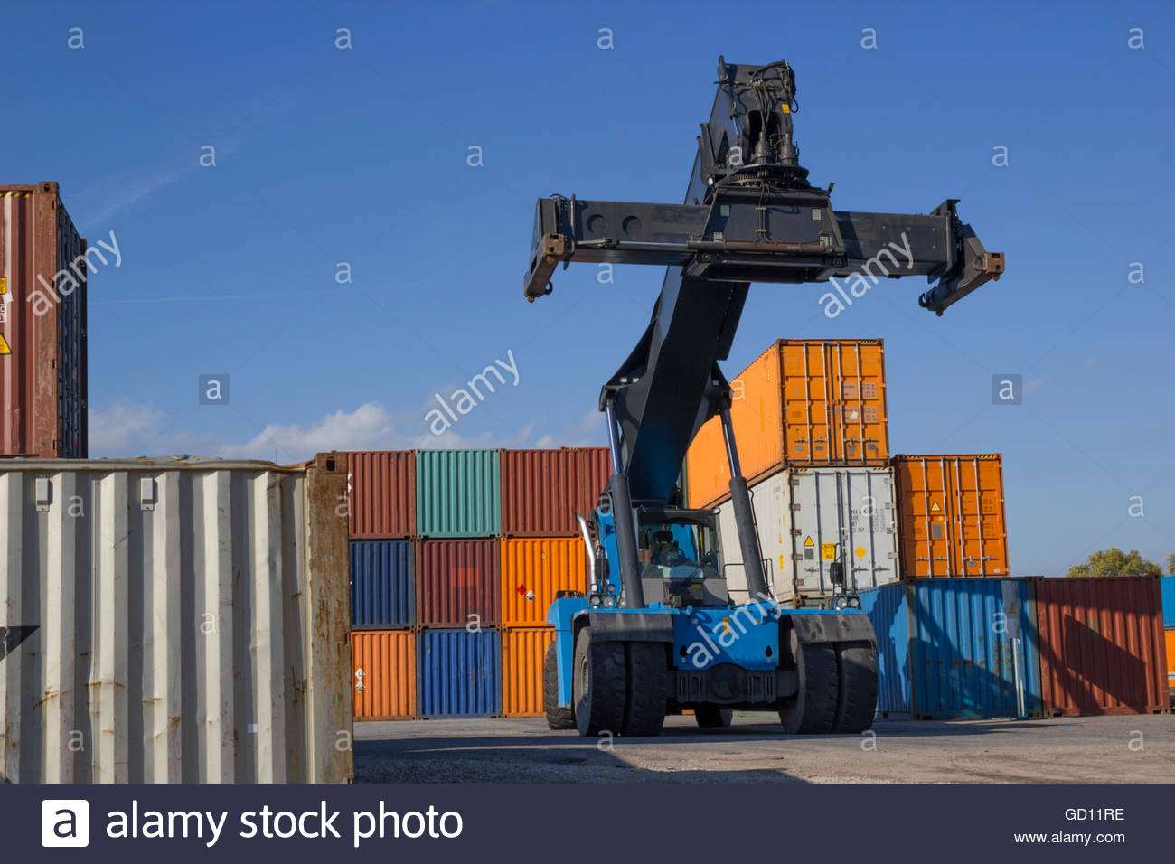 container lifter - Stock Image