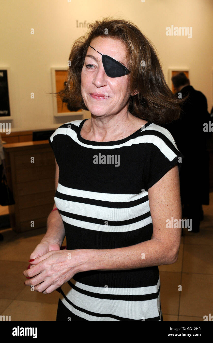 File photo dated 11/03/08 of award-winning American journalist Marie Colvin, who was killed in a rocket attack just - Stock Image