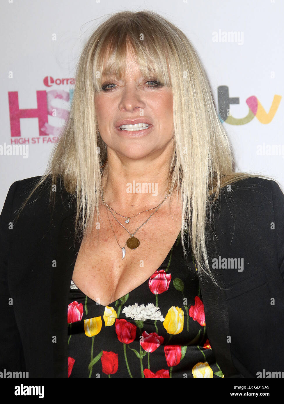 May 17, 2016 - Jo Wood attending Lorraine's High Street Fashion Awards at Grand Connaught Rooms in London, UK. - Stock Image