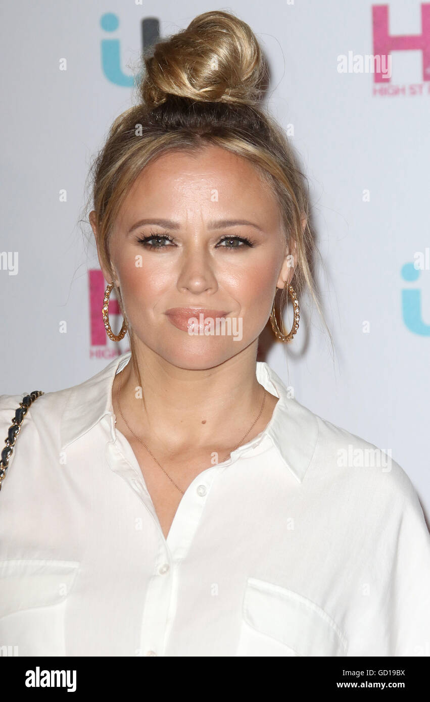 May 17, 2016 - Kimberley Walsh attending Lorraine's High Street Fashion Awards at Grand Connaught Rooms in London, - Stock Image